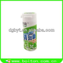 Xylitol bottle with mints candy