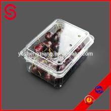 Disposable plastic fruit container
