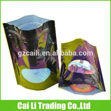 zipper  tear notch top food grade laminated stand up pouch