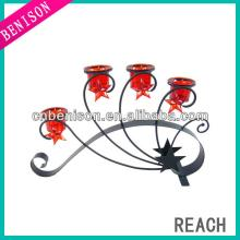 champagne glass wrought iron candle holders wholesale with  wood   base