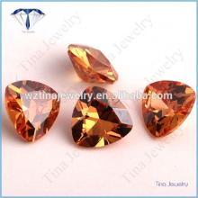 champagne trillion cubic zirconia stones