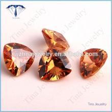 champagne cubic zirconia trillion cz stones