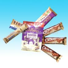 Customizable packing bags for chocolate bar,food grade material,moisture-proof,back center seal