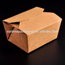 Disposable white fast deli food containers of food grade paper board