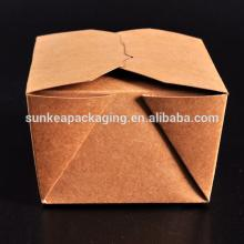 Kraft disposable fast food containers of food grade  paper   board