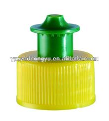 plastic pull push cap for bottle