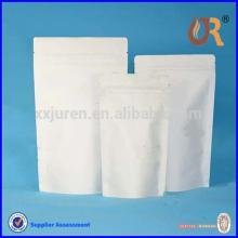stand up zipper lock bag,white kraft paper bag