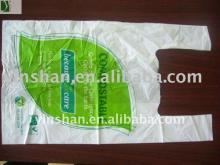 Hot sales Vest Handle carrier Corn starch packing Plastic bag