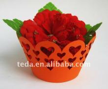 cupcake   wrapper  heart design decoration