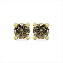 Champagne Diamond silver Earrings,silver jewelry