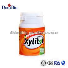 60-Piece Bottle Fresh Fruit Cheap Xylitol Chewing Gum