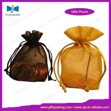 high quality organza tea bag with drawstring