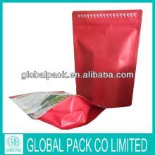Biodegrable custom  paper   bag  for  tea /stand up  tea   bag / tea  packaging  bag  with ziplock