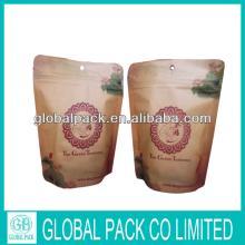 brown   kraft  tea  bag s/ paper  zip lock  bag  for  food  tea/ kraft   paper   bag  printing for tea