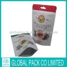 Resealable Ziplock  Zipper  Aluminum Foil Custom Tea Bag