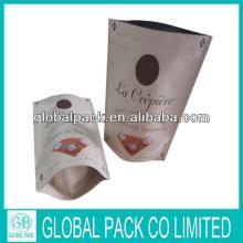 High quality kraft paper laminated foil standing zipper tea bag