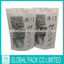 custom printed tea paper bag /stand up tea bag with zipper
