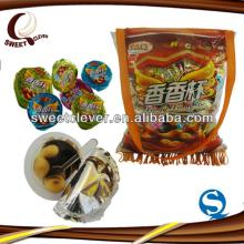 school-bag packing chocolate cup with biscuit