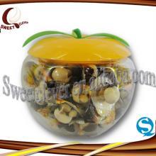 Apple shape jar mini biscuit and sweet chocolate jam