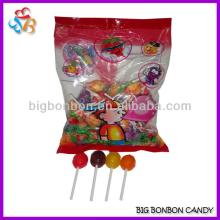 Mixed Fruit Flavours Wholesale Bubble Gum Lollipop Candy