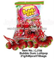21g Big Bom bubble gum lollipop