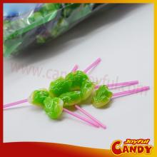 Frog shaped lollipop candy / animal shaped hard candy lollipops
