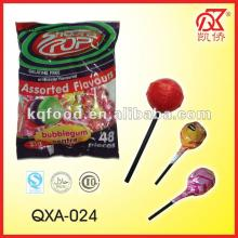 21g Halal Fruity Flavours  Gum   Filled   Lollipop