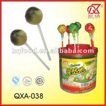21g Double Flavors Fruity Bubble Gum  Round  Lollipop
