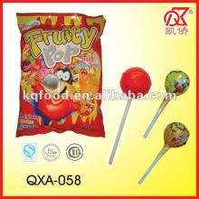 21g Fruity Hard Round Colorful Lollipop Candy