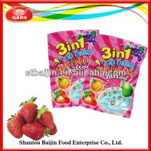 Hot  sale poping candy strawberry Ice Cream