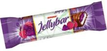 Jelly Bar Milky Cocoa Coated Nougat with Raspberry