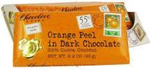 Chocolove Orange Peel in Dark Chocolate, 55% Cocoa - 1.2 oz bar