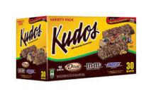 Kudos Granola Bars, Milk Chocolate, Variety Pack - 30 bars