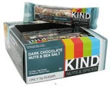 Kind Bar, Dark Chocolate Nuts & Sea Salt - 12 pack, 1.4 oz bars