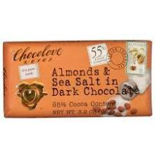 Chocolove Almonds & Sea Salt in Dark Chocolate, 55% Cocoa - 3.2 oz bar