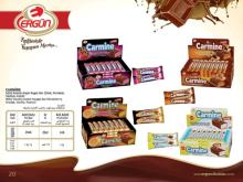 Carmine Milky Cocolin Coated Fruit flavoured nougat bar