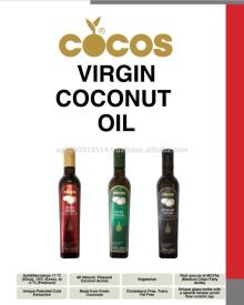 COCOS Premium Virgin Coconut Oil - The only virgin coconut oil that solidifies below -5 degrees Cels