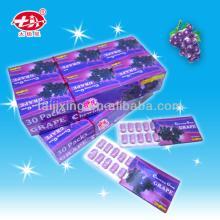 10pcs Xylitol gum Fruity Chewing Gum Grape Flavor XG-003
