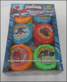 JJW 50g fruit flavors compressed bubble gum rolls candy