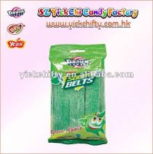 Yickchi liquorice candy jelly belts/ licorice belts candy in green apple flavour.(TF-8008).