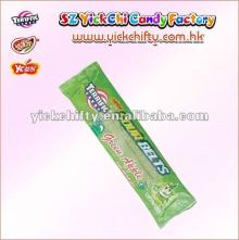 Yickchi prvaite labels candy/ soft eating liquorice/licorice candy belts in  green   apple  flavour.(TF-