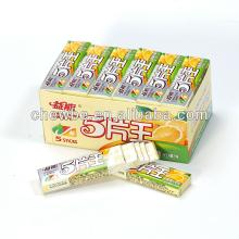 lemon  chewing   gum   stick