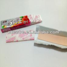 colored sugar stick chewing gum