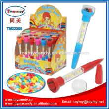 Made in china most popular products  promotion al  pen  light and seal  pen  with candy students stationer