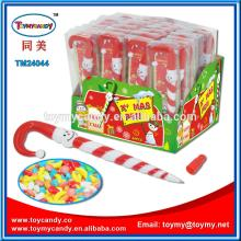 New kids toys for 2014 china manufacturer christmas decoration X mas pen with candy in  pvc  box n