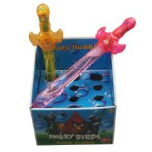 China plastic  toy  sword shape  bubble   toy  with candy