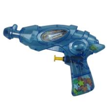 China plastic toy transparent plastic water gun with candy