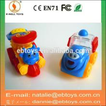 Pull back cartoon train pudding car china candy toy