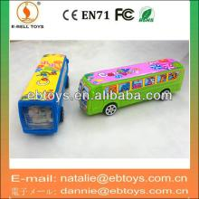 Pull back bus toys candy