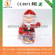 Wind up Play durm Santa Claus sweet toys container